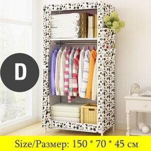 Image 4 - Actionclub armario de tela minimalista para bebé, armario de almacenamiento para bebé, moderno, de acero plegable, individual, muebles de dormitorio