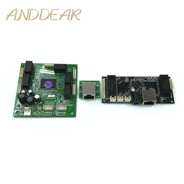 산업용 이더넷 스위치 모듈 10/100/1000 mbps 4/5/6 포트 pcba 보드 oem 자동 감지 포트 pcba 보드 oem 마더 보드