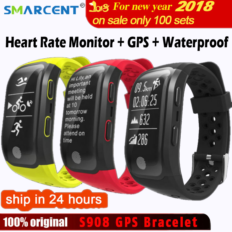 SMARCENT G03 S908 Fitness Smart Wristband Dynamic Heart Rate IP68 Waterproof GPS Smart Band Bracelet Tracker Smartband Watch цена
