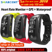 SMARCENT G03 S908 Fitness Smart Wristband Dynamic Heart Rate IP68 Waterproof GPS Smart Band Bracelet Tracker Smartband Watch