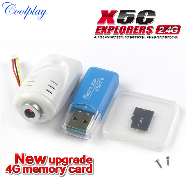 2.0MP HD Camera For SYMA X5C 6AXIS 4CH RC Quadcopter Drone With 4G Memory Card Card Reader Spare Parts Extra Accessories