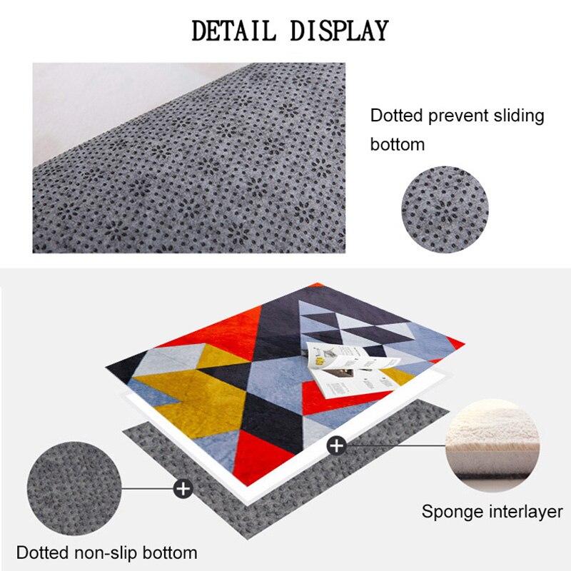 O SHI tapis de voiture motif géométrique abstrait décor à la maison tapis de sol 100CM * 150 CM/Table et chaise tapis de coussin - 6