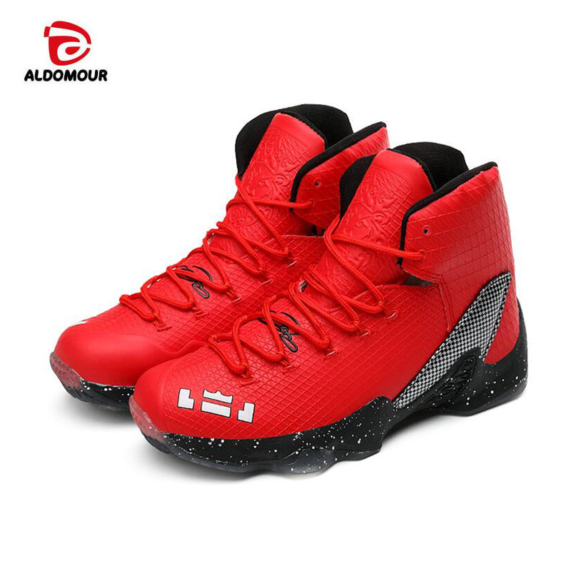 ALDOMOUR Newest Men Basketball Shoes 2017 Male Ankle Boots Anti slip  outdoor Sport Sneakers Plus Size EU 36 44 Free Shipping-in Basketball Shoes  from Sports ... 8cf10a79fe73
