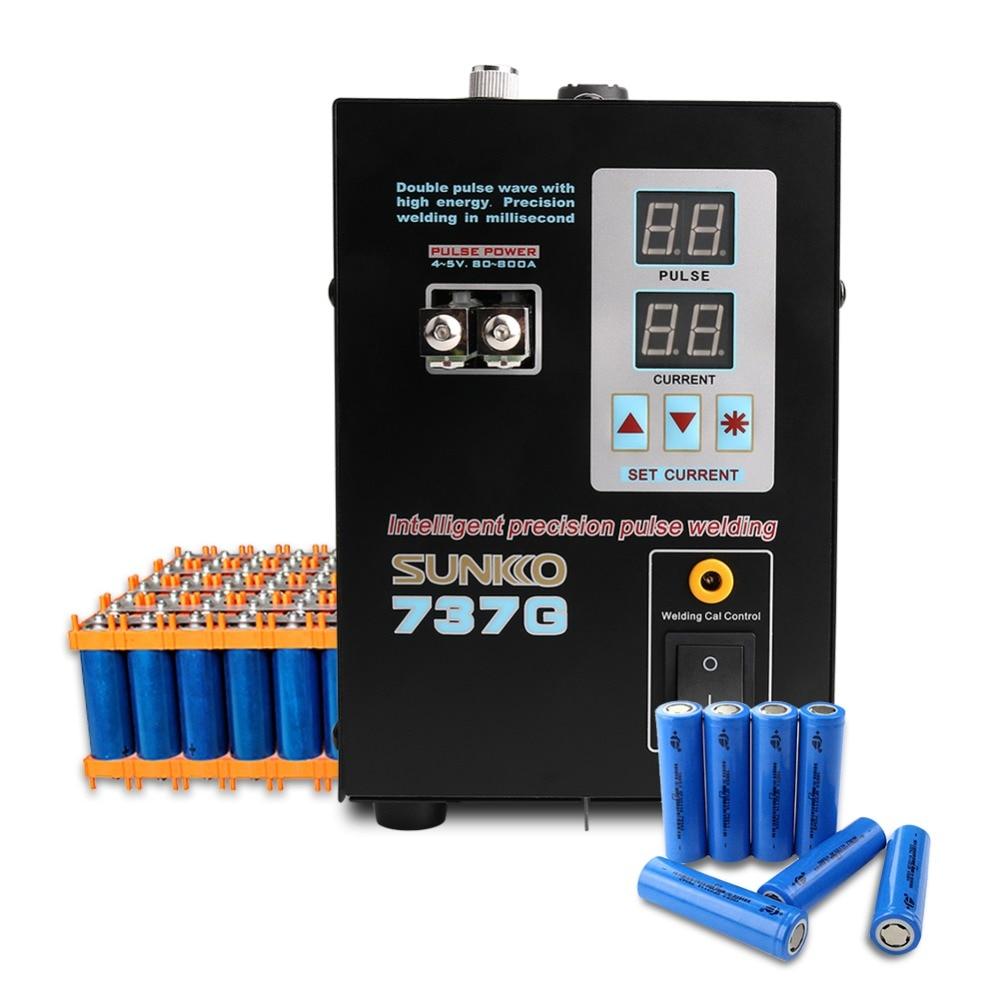 737G batterie soudeuse par points Double impulsion LED Machine de soudage par points Double affichage de courant pour 18650 batterie bande de Nickel pur