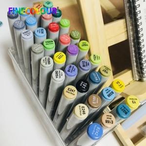 Image 3 - Finecolour プロフェッショナル常設アートマーカーペンアルコールベース Lnk マンガマーカー描画するための 24/36/48/60 /72 絵画マーカーセット