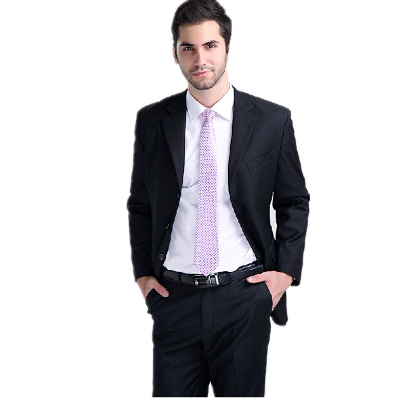 The New Arrival Navy Blue Suit Men S Clothing Of Male Business Office Job Coat And Pants Zt046 In Suits From Accessories On Aliexpress