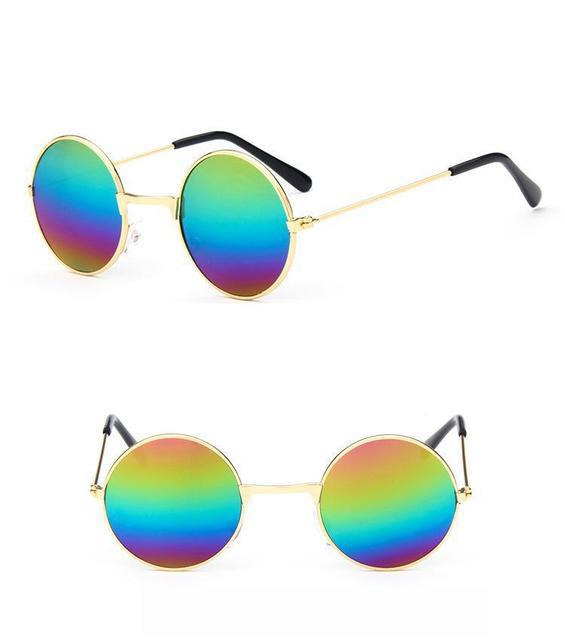 Miúdo Do Vintage Rodada Óculos De Sol do bebê criança menino menina Lentes Degradê  Óculos Da e64df053f9
