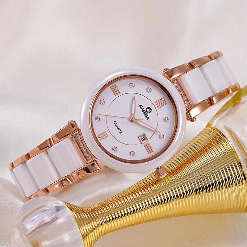 Women Lady Casual Watches Waterproof Luminous Stainless Steel Ceramics Strap Crystal Dial Wristwatch Analog Quartz Watch LXH matisse lady austria full crystal dial