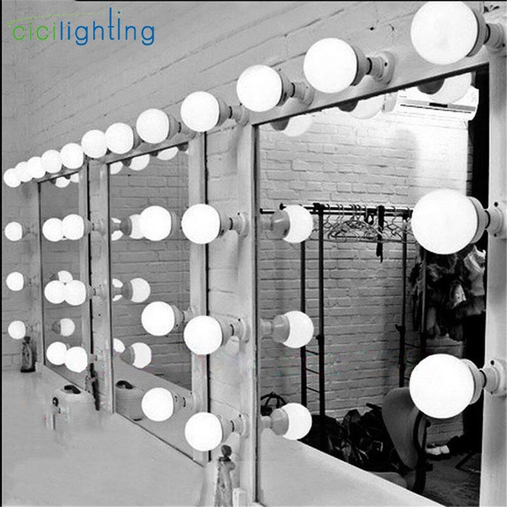 5/10/15/20 штук Современная гардеробная свет зеркала настенные косметическое зеркало лампа E27 E26 светодиодный лампы составления освещения макияж настенные светильники