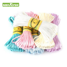 Corda de cetim de 20m 2.5mm, corda de nylon para bebê, acessórios para dentição, colar de chocalho ferramenta diy 10 cores