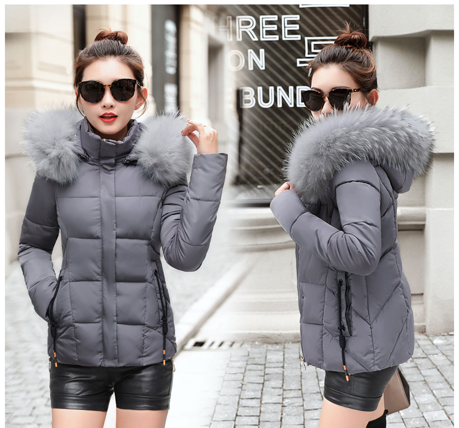 HTB1mzHalyMnBKNjSZFzq6A qVXaT 2019 Winter Jacket women Plus Size Womens Parkas Thicken Outerwear solid hooded Coats Short Female Slim Cotton padded basic tops