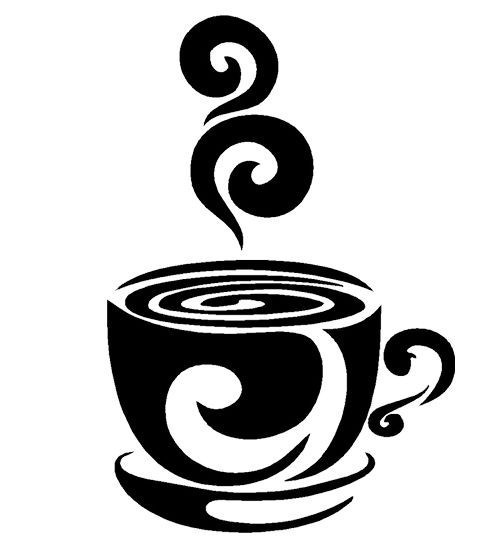 Swirl coffee cup cafe vinyl wall art decal stickers kitchen decor removable art decor decal quote sticker mural inspiration in wall stickers from home