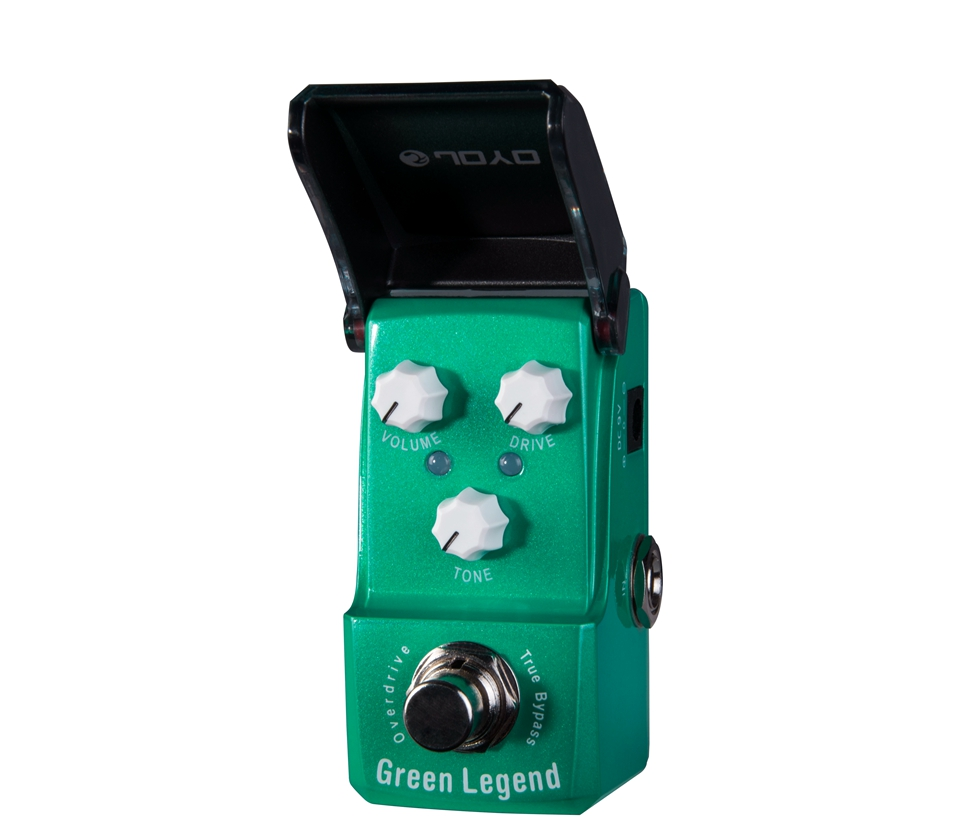 JOYO Green Legend Overdrive Electric Guitar Effect Pedal with Knob Guard with True Bypass JF-319 joyo ironman orange juice amp simulator electric guitar effect pedal true bypass jf 310 with free 3m cable