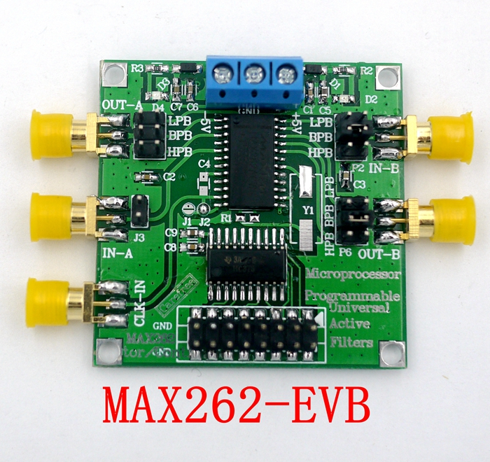 MAX262 Active Filter Module Programmable filter High and low pass band passMAX262 Active Filter Module Programmable filter High and low pass band pass