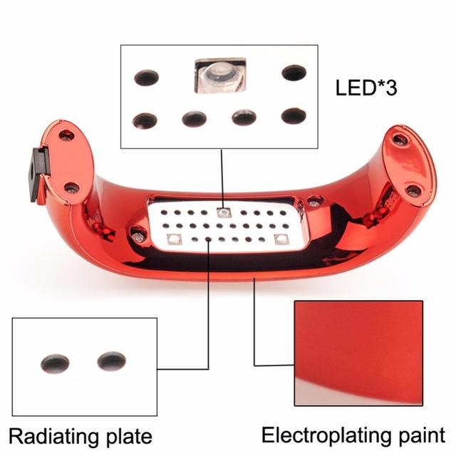 COSCELIA 9W UV LED Lamp Nail Dryer Portable USB Cable For Prime Gift Home Use Gel Nail Polish Dryer Mini USB Lamp For Nail