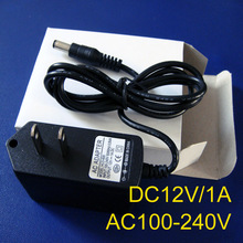 High quality AC100-240V to DC12V 1A 12W Converter Adapter Switching Power Supply Charger For LED Strips free shipping 1pcs/lot