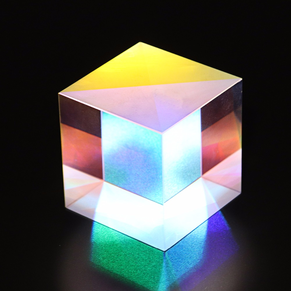 34X34X34mm Defective Optical Glass Prism Dichroic Combiner Splitter RGB X-Cube