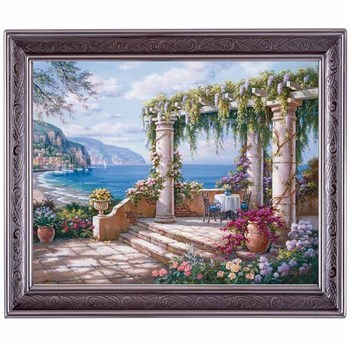 Golden panno,Needlework,Embroidery,DIY Landscape Painting,Cross stitch,kits,14ct Patio Cross-stitch,Sets For Embroidery