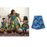 African Fabric Ankara Real Wax Print Blue Dashiki Fabric Authentic Ethnic African Veritable Regular Wax Print Fabric
