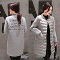 Invierno de la manera más el tamaño 5xl mujeres clothing invierno wadded prendas de vestir exteriores medio-largo de algodón acolchado chaqueta femenina