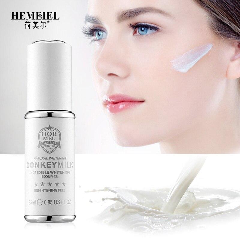 HEMEIEL Donkey Milk Whitening Serum Anti Spot Strong Whiten Face Serum Facial Moisturizer Blemish Removal Cream Skin Care 25ml