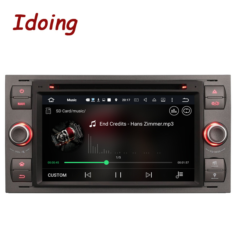 Idoing 2Din Android7.1 Steering-Wheel Car DVD Multimedia Video Player For Ford Focus2/Mondeo/MAX GPS Navigation Touch Screen TV