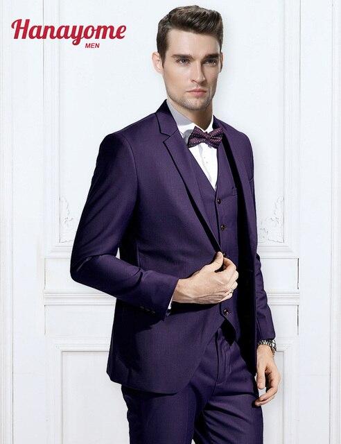 Mens Purple Dress Pants Men's New 3 Pieces Purple Vest Blazer Velvet Tuxedo Mens Leopard Suit Tuxedo Suits & Pants Set U126