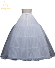 New Ball Gown Bigger 4 Hoops Petticoat White Bridal For Wedding Dresses Quinceanera Dresses Crinoline Underskirt Q1162