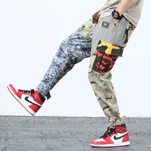 2018 Autumn Fashion Men Jeans High Street Hip Hop Jogger Pants Big Pocket Cargo Camouflage Military Style Army