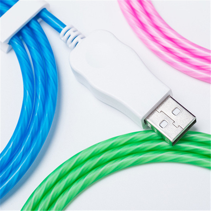 Led Glowing Flow Magnetic Usb Cable For Iphone X Xs Max Magnet Micro Usb Type C Cable For Samsung Galaxy S9 S8 Xiaomi Huawei Mobile Phone Cables