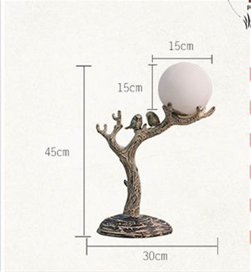 Resin Branch Bird 3D Moon Lamp - Lamps & Lighting