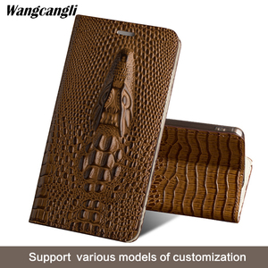 Image 5 - Brand mobile phone case for Sony Xperia a2 handmade crocodile head flip phone case mobile phone protection case wangcangli