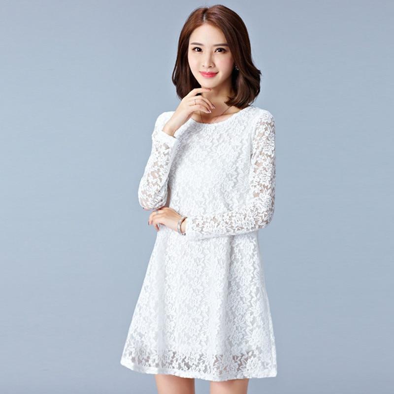 Foxmertor 2017 Spring Autumn Dresses Plus Size Women Clothing Hollow
