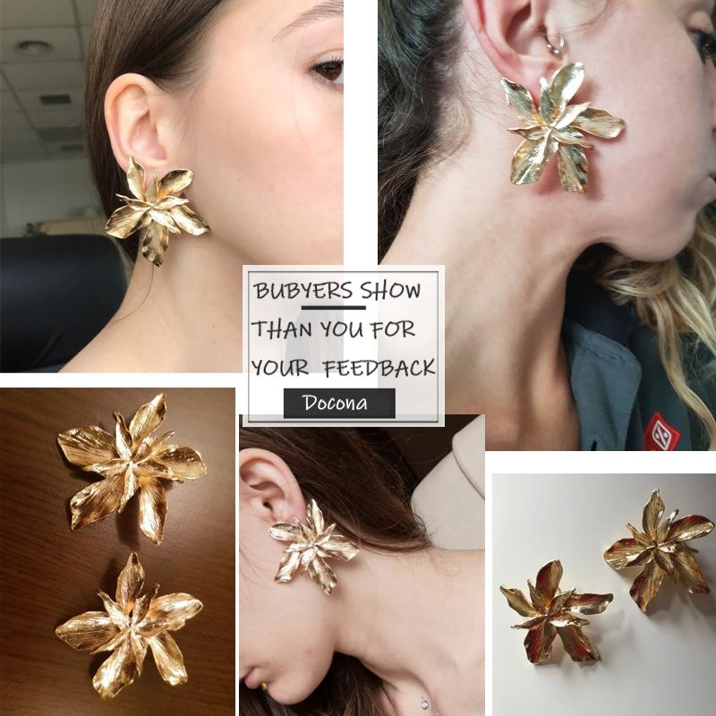 Big Flower Drop Dangle Earring for Women Earrings Jewelry Women Jewelry