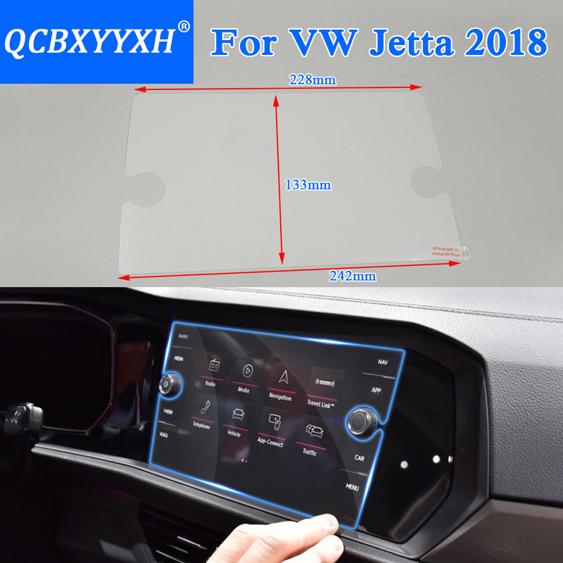 Qcbxyyxh For Volkswagen Jetta 2018 Car Styling Gps Navigation Screen Gl Protective Film Dashboard Display In Automotive Interior Stickers