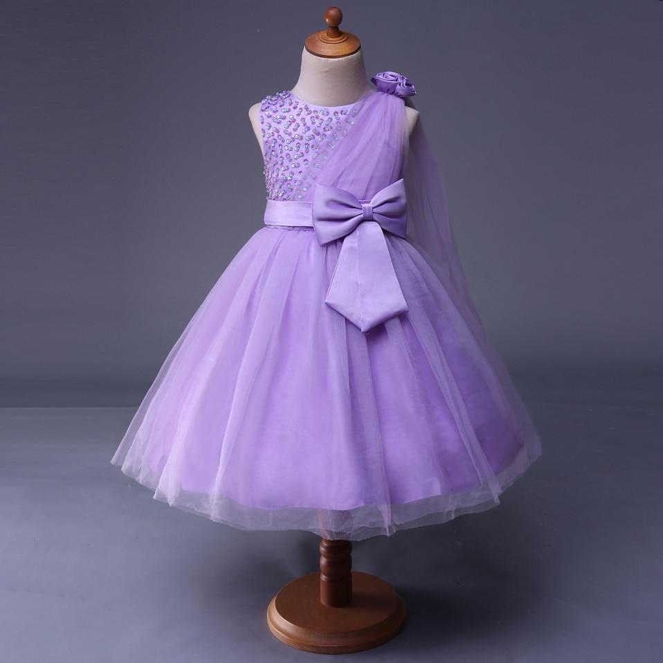 Cutestyles Beautiful Lilac Flower Girl Dresses Childrens Wedding ...