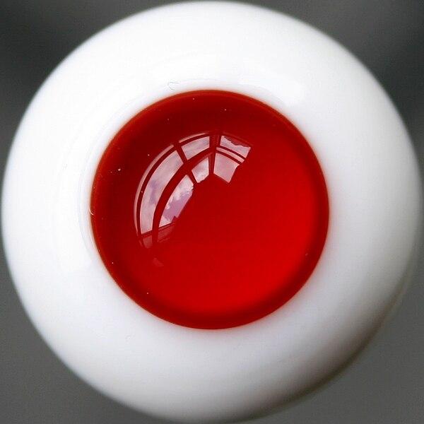 [Wamami] Ew25 #18mm yeux en verre/yeux rouges/pas d'yeux de pupille/tenue pour BJD Dollfie