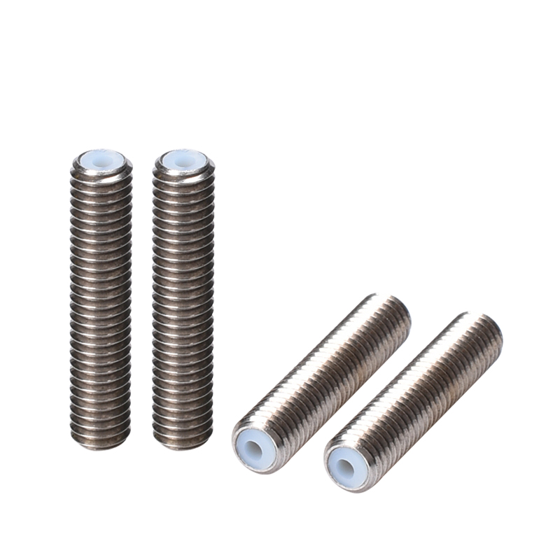 3D Printer Nozzle Throat With Teflon Tube M6 Thread 30/35/40/50MM Barrels MK8 1.75 Filament PTFE Tube For 3D Printer Extruder