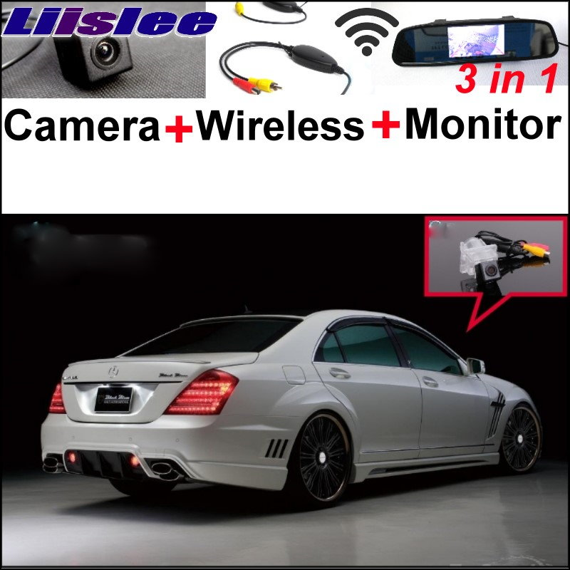 Liislee Special Camera + Wireless Receiver + Mirror Monitor Easy Parking System For Mercedes Benz S Class MB W221 SL W231 R231 for mercedes benz ml mb w164 ml350 ml330 amg ml450 ml500 3in1 car camera wireless mirror monitor parking rear view system