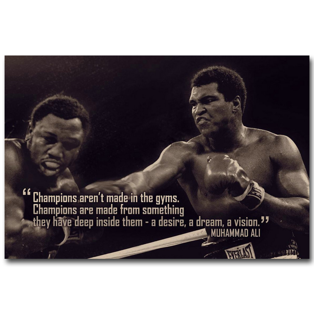 MOTIVATIONAL QUOTE POSTER T BOXING INSPIRATIONAL PICTURE PRINT