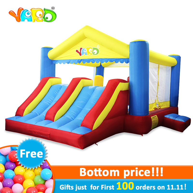 YARD Inflatable Games Trampoline Bouncer House With Slide Children Outdoors Oxford PVC Inflatable Castle Moonwalk Bouncer Blower outdoor inflatable boucy castle for kid and adult inflatable moonwalk jumper for sale inflatable bouncer with free air blower