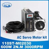 0.6KW servo motor + servo motor110ST M02030 ac servomotor 2N.M 0.6KW 3000RPM Matched Servo Driver