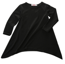 New Long Sleeve Gift Loose O Neck Max Black Full Children Baby Girl Kids Clothes Casual Brief Dresses Cotton Fashion Girls Dress