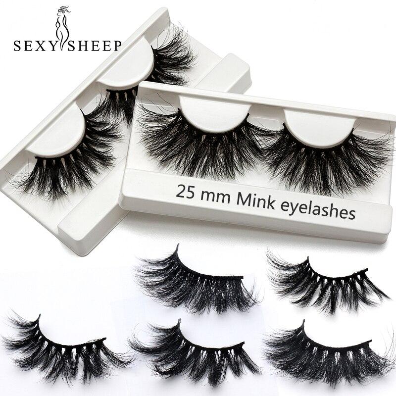 886fb9ca4cf 100% 25mm 5D Mink Eyelashes False Eyelashes Crisscross Natural Fake lashes  Makeup 3D Mink Lashes Extension Eyelash Multi-layer