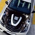 Criativo À Prova D' Água HD Jato de tinta Cabeça Autocolante V6 Mercedes Capô Do Motor Adesivos Acessórios Do Carro cabeça de Cobre adesivos em carros ML-009