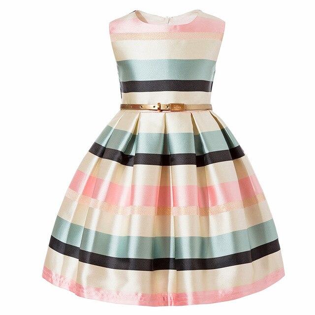 3-10 year Children Clothing clothes Kids girl stripe Short sleeves Princess  Dress for Girl 0915c85791e6