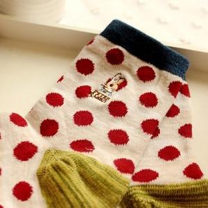 Image 5 - 10 pairs=1 lot Cute Cartoon Embroidery Stripe Peter Rabbit Tube Art Print Novelty Cotton 3D  Casual Japanese Socks MF748512