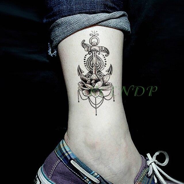 Etanche Autocollant De Tatouage Temporaire Lotus Fleur Faux Tatto