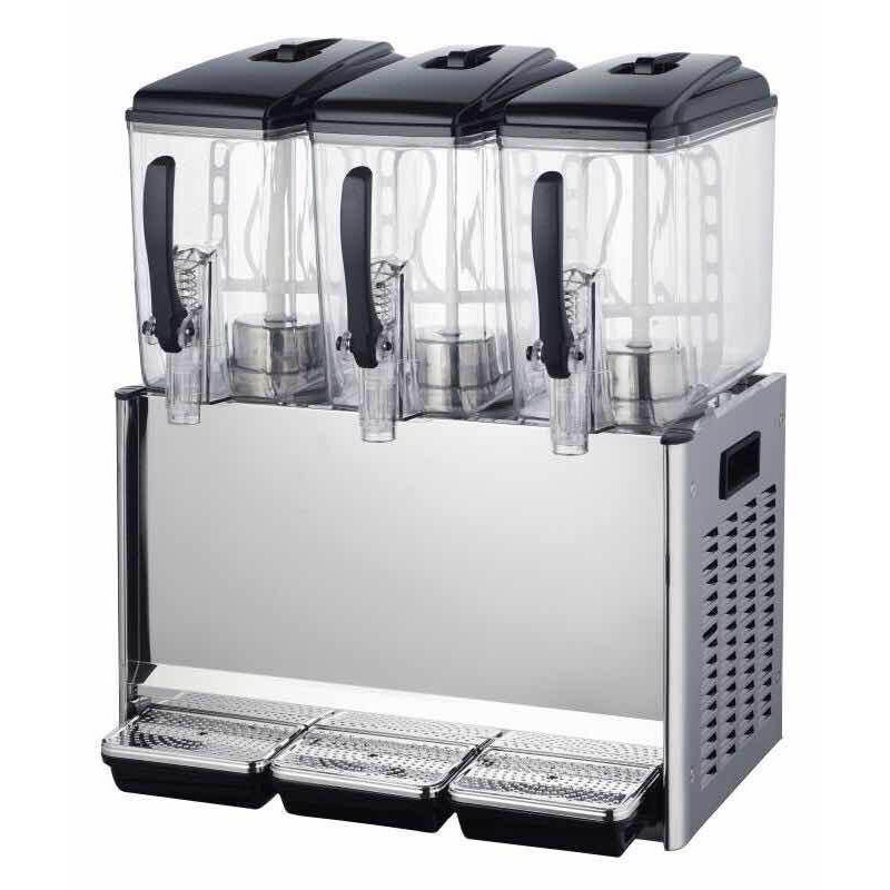 Jamielin 12X3L Commercial Cold Drink Dispenser Drinks Beverage Machine Juice Machine 3 Cylinder Milk Coffee Juice Machine