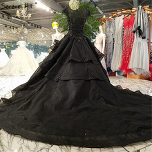 Black Fashion Sexy Luxury Wedding Dresses 2018